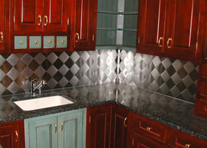 Stainless Steel Backsplash. Range Hoods and Backsplashes